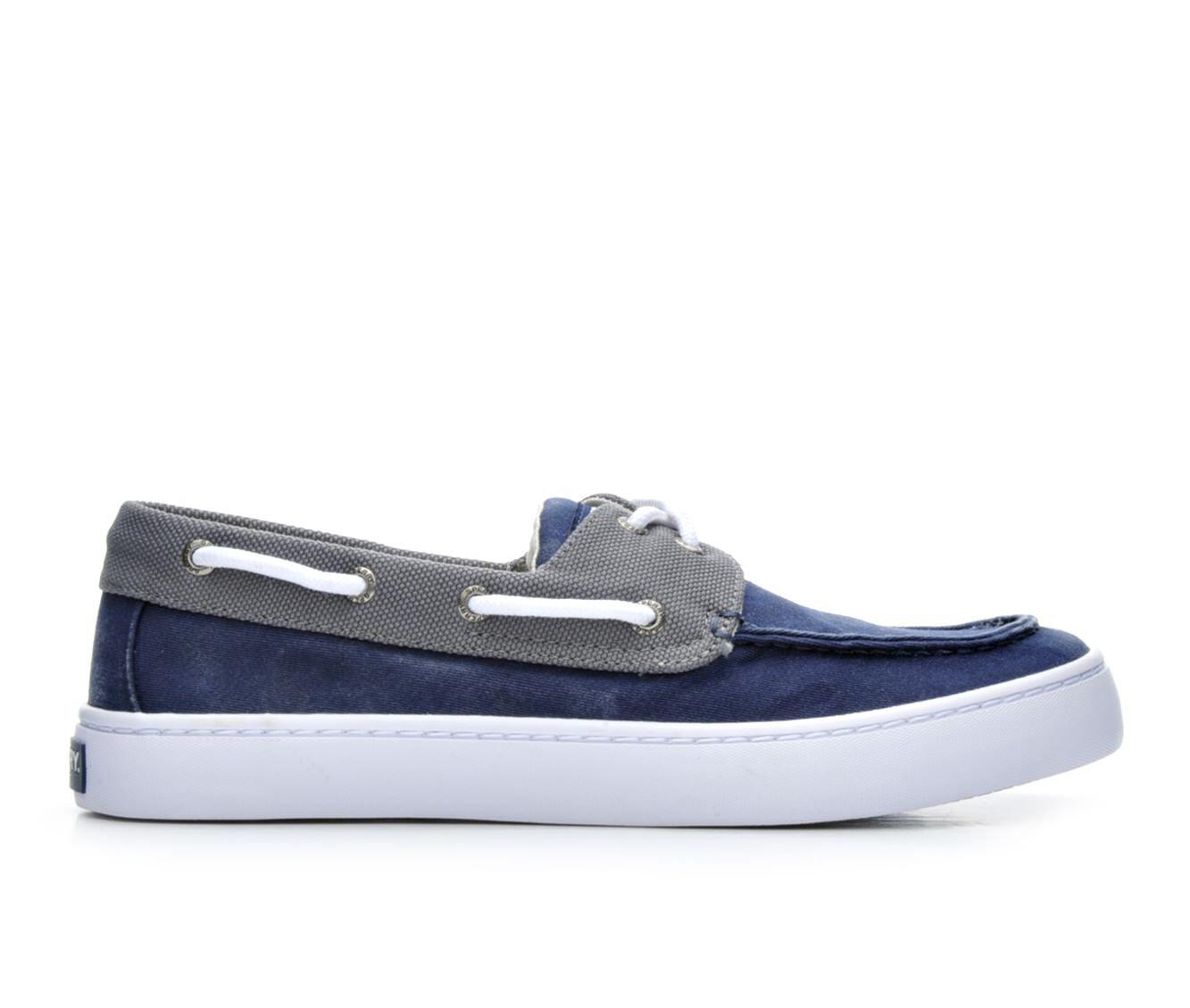 Men's Sperry Cutter 2 Eye Boat Shoes Navy/Grey