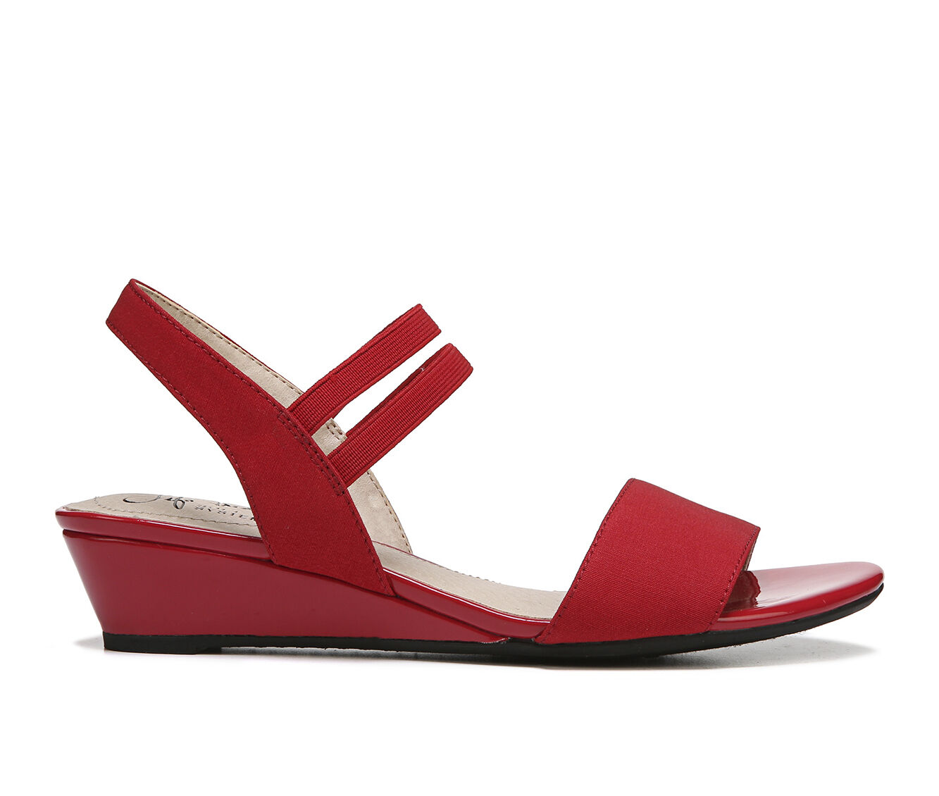 Women's LifeStride Yolo Wedge Sandals Red