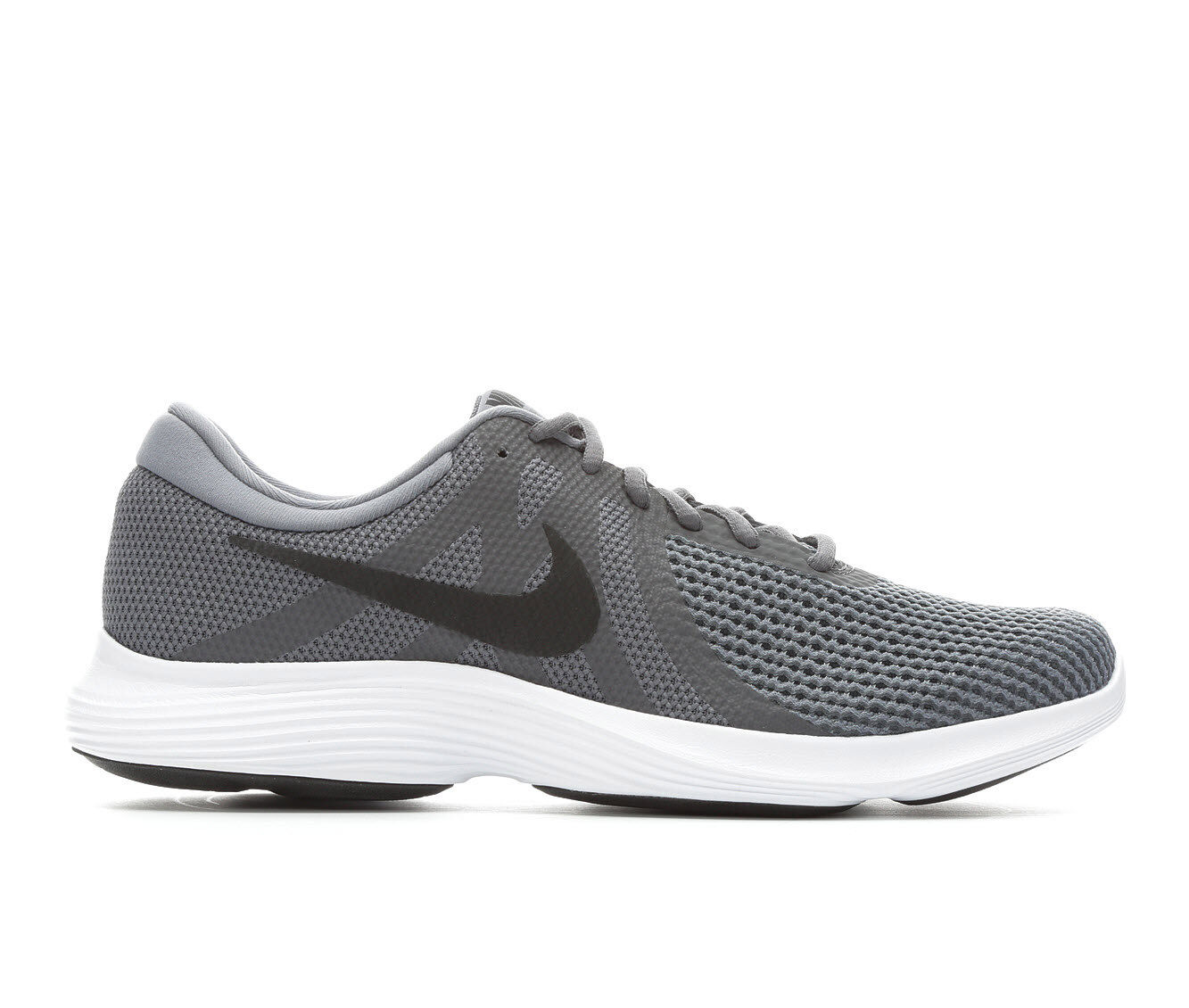 100% quality materials Men's Nike Revolution 4 Running Shoes Gry/Blk/Wht 010