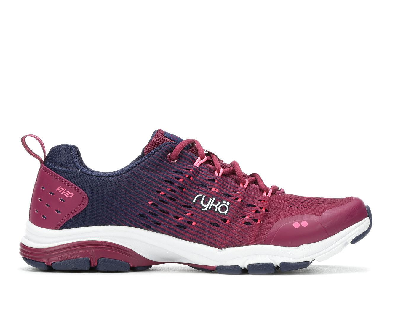 Women's Ryka Vivid RZX Training Shoes Rasp/Purple/Wht