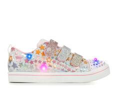 Girls' Skechers Little Kid Sparkle Rayz Twinkle Toes Light-Up Sneakers