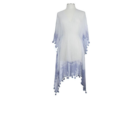 Rampage Ombre Tassel Poncho