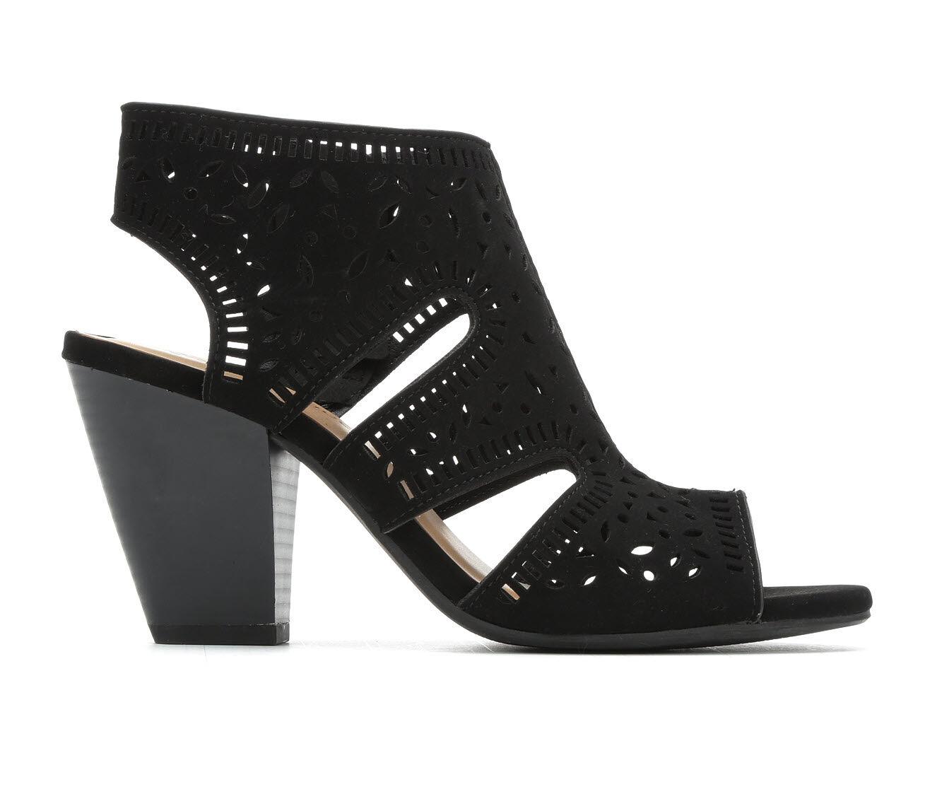 Women's City Classified Spoil Heeled Sandals Black Nub