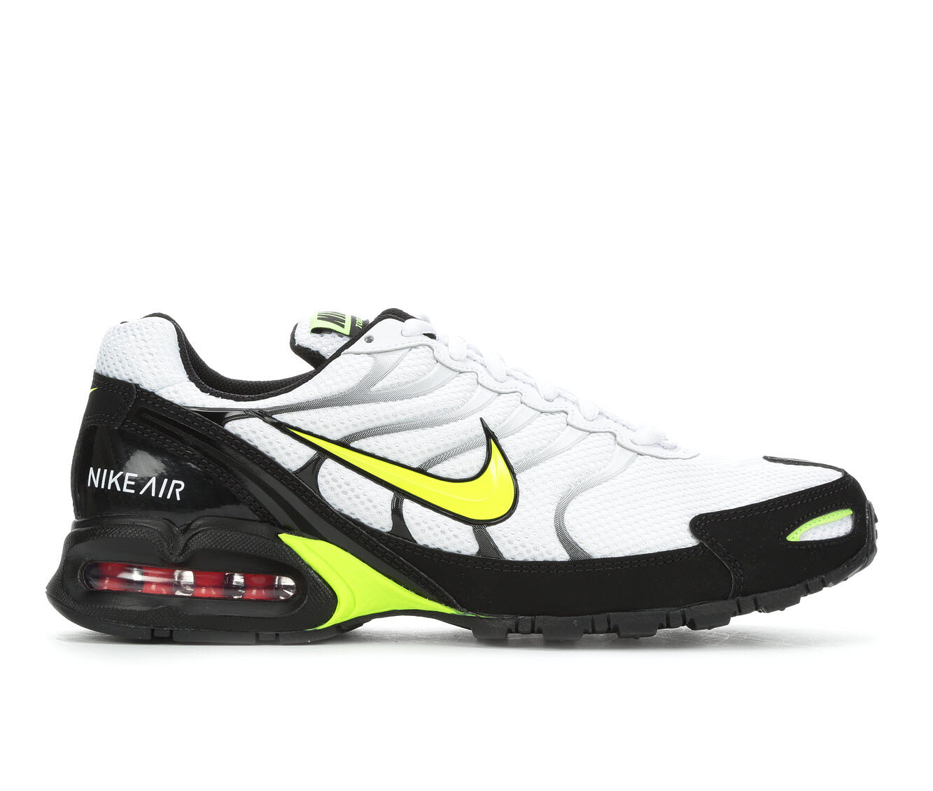 buy authentic Men's Nike Air Max Torch 4 Running Shoes Wh/Bk/Vt/Rd 100