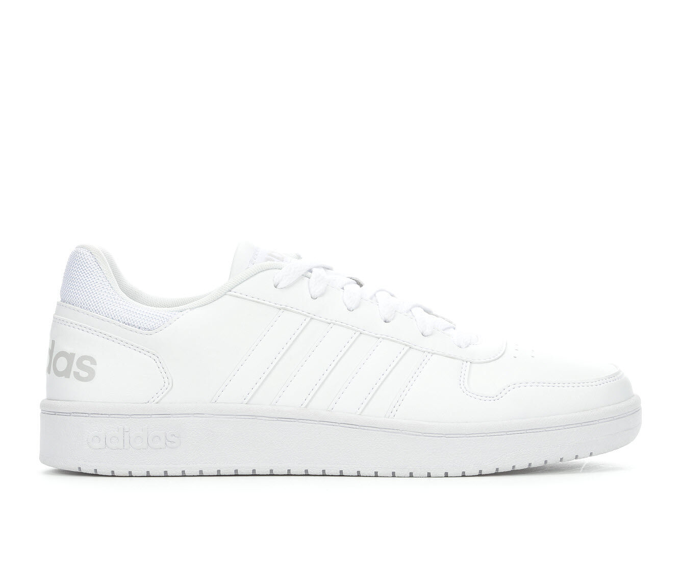 Men's Adidas Hoops 2.0 Low Retro Sneakers Wht/Wht/Gry