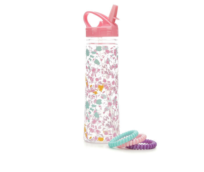 Capelli New York Water Bottle and Hair Accessories Set