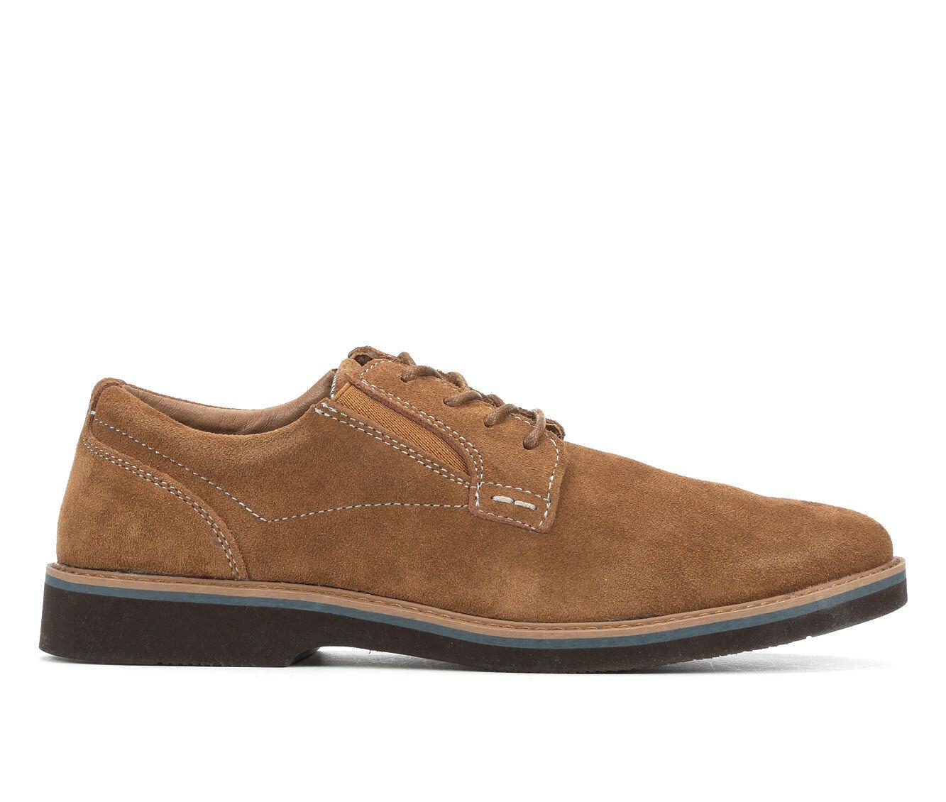 Men's Nunn Bush Barklay Plain Toe Oxford Dress Shoes Camel