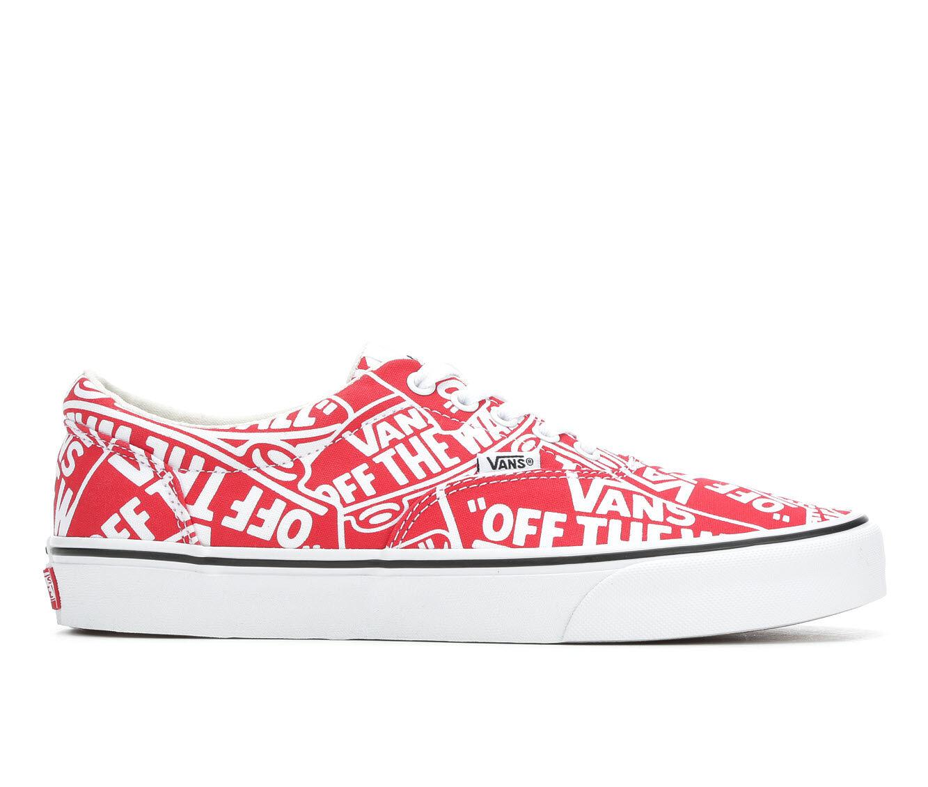 Men's Vans Doheny Skate Shoes Red/White OTW
