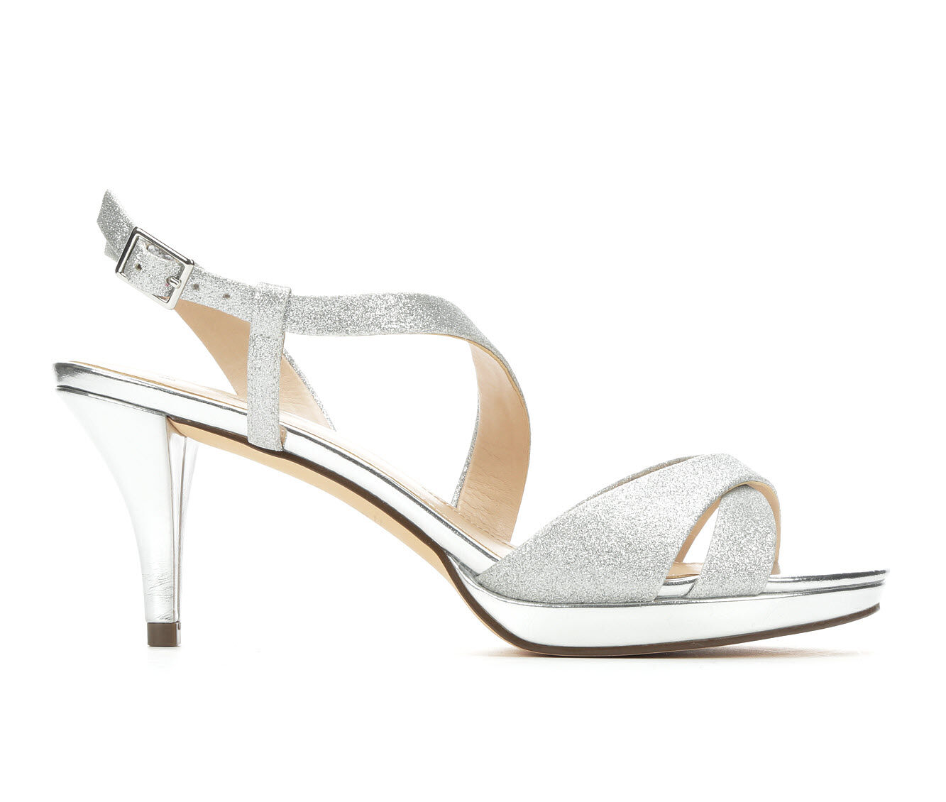 Women's Touch Of Nina Nila Strappy Heeled Dress Sandals Silver