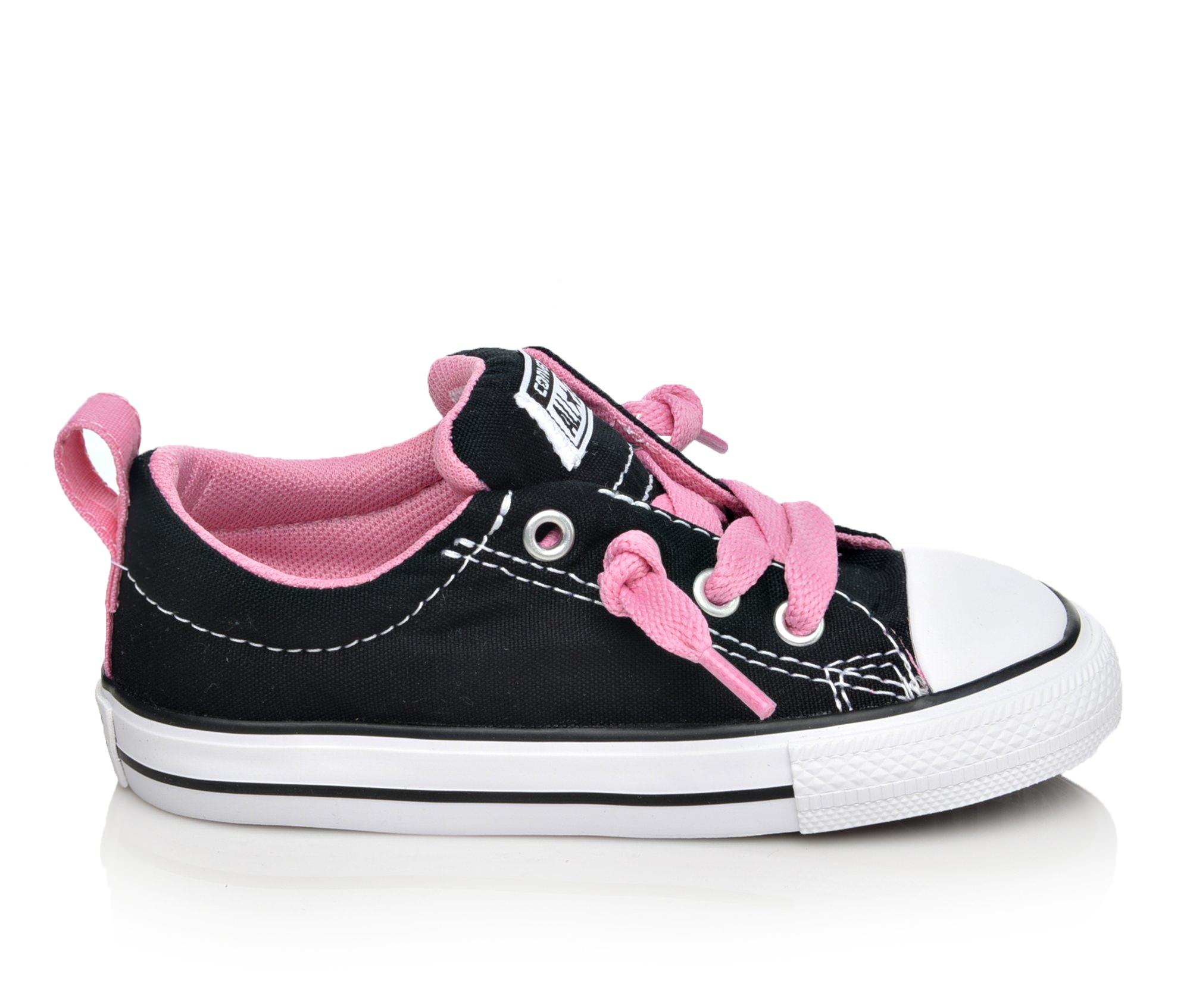 Girls' Converse Infant Chuck Taylor All Star Street Ox Sneakers (Black)