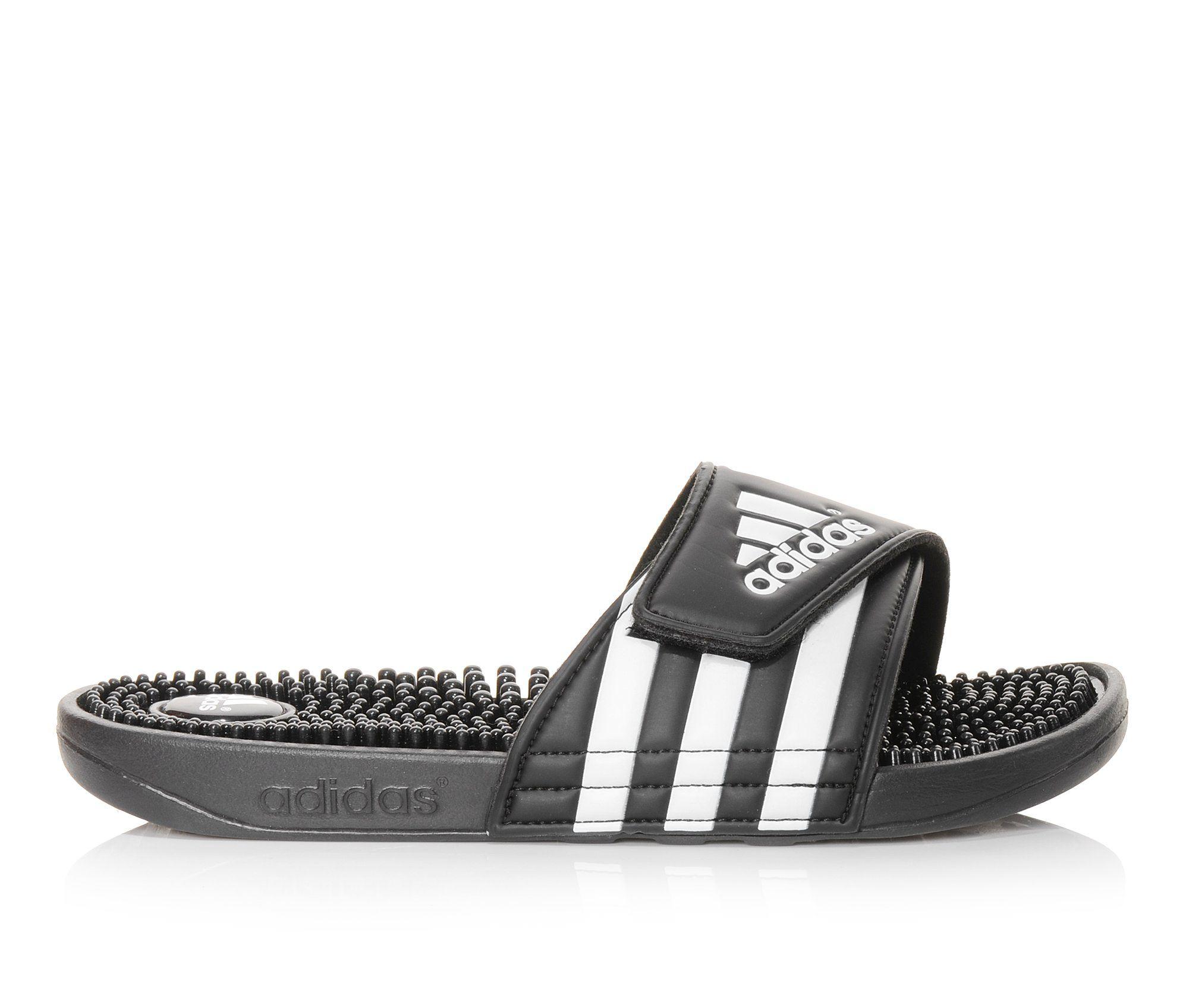 Women's Adidas Adissage Sport Slides (Black)