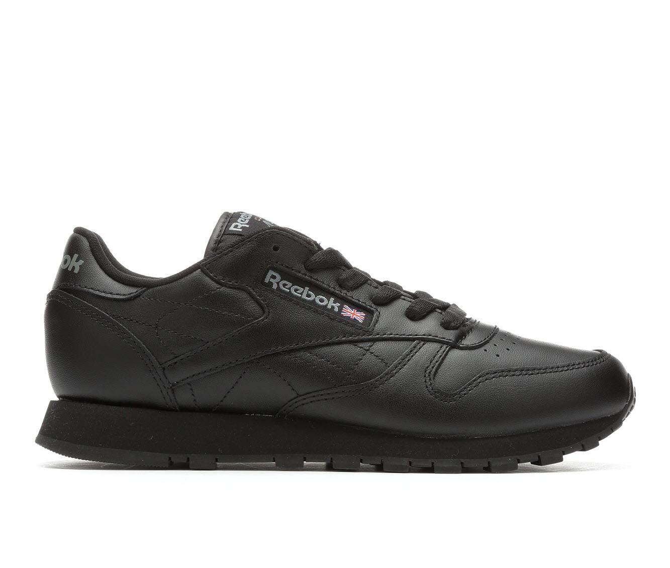 Women's Reebok Classic Leather Jog Sneakers (Black - Size 11) 354214
