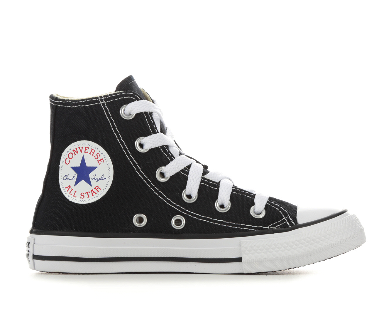 Girls' Converse Chuck Taylor All Star Hi Sneakers (Black)