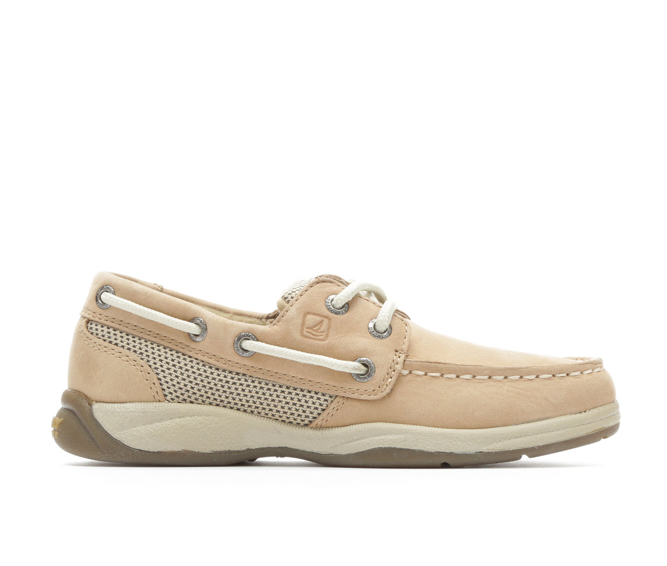 Girls' Sperry Intrepid Boat Shoes (Beige)