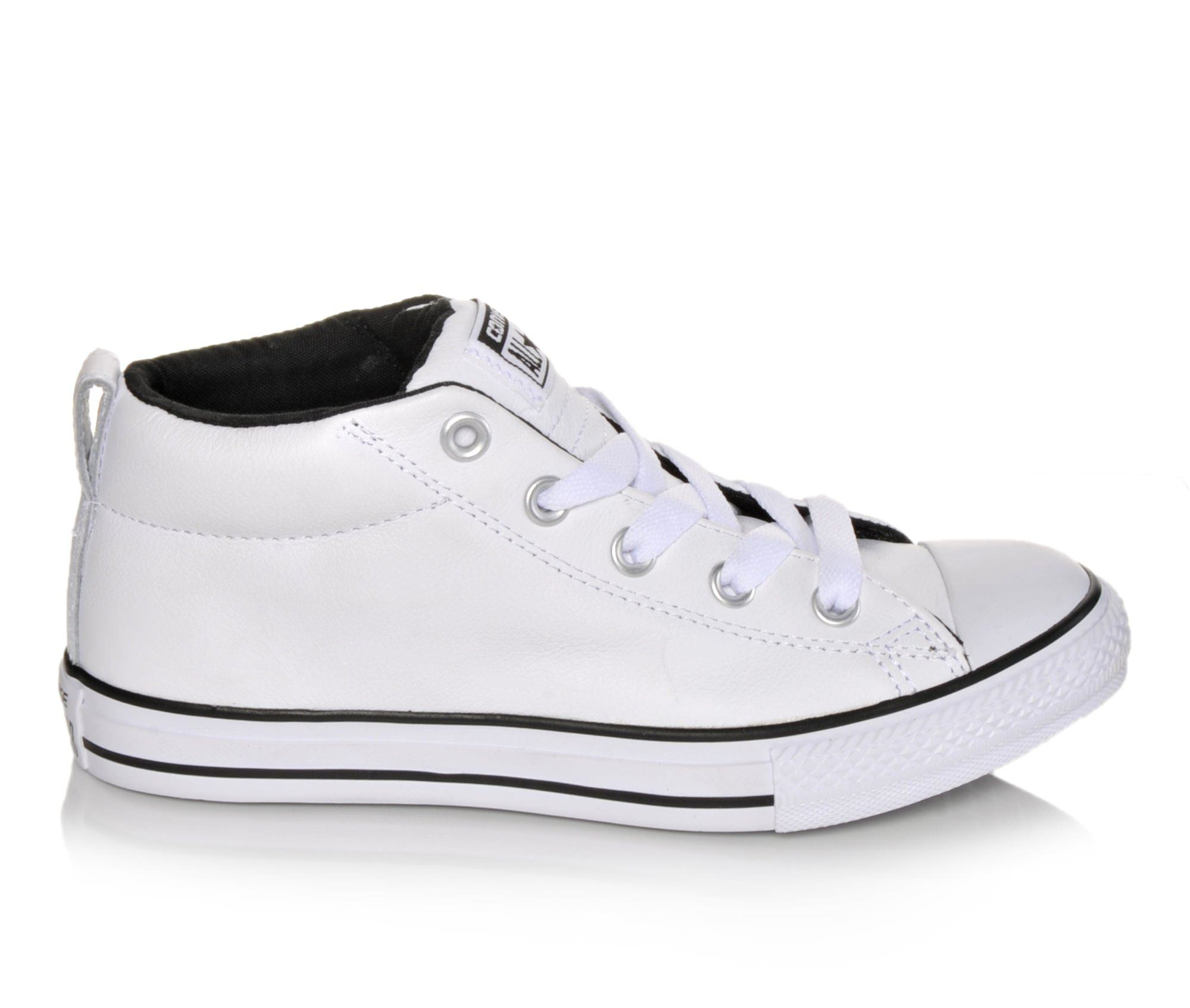 Boys' Converse Chuck Taylor All Star Street Mid Oxford Shoes (White)