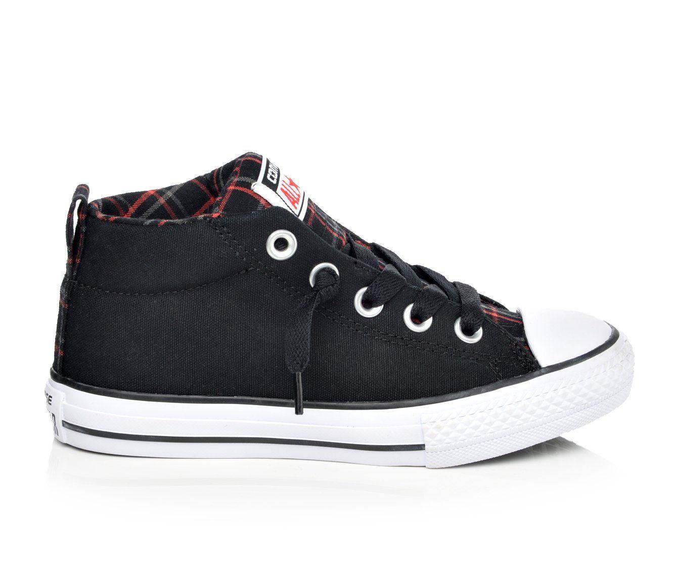 Boys' Converse Chuck Taylor All Star Street Mid Oxford Shoes (Black)