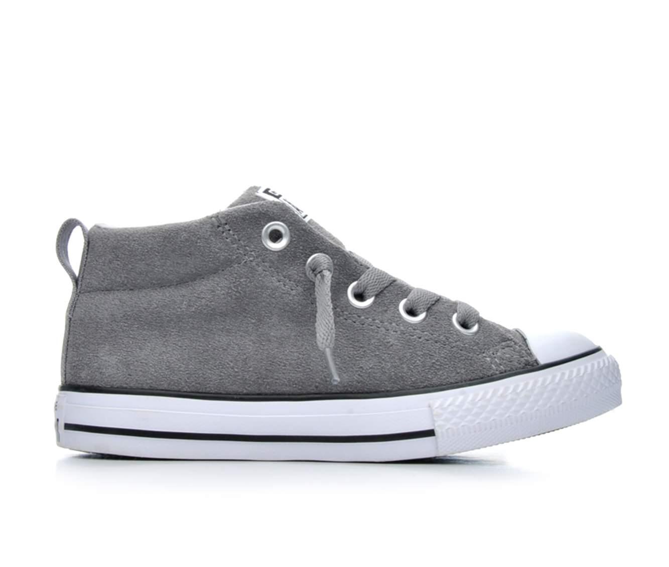 Boys' Converse Chuck Taylor All Star Street Mid Oxford Shoes (Grey)
