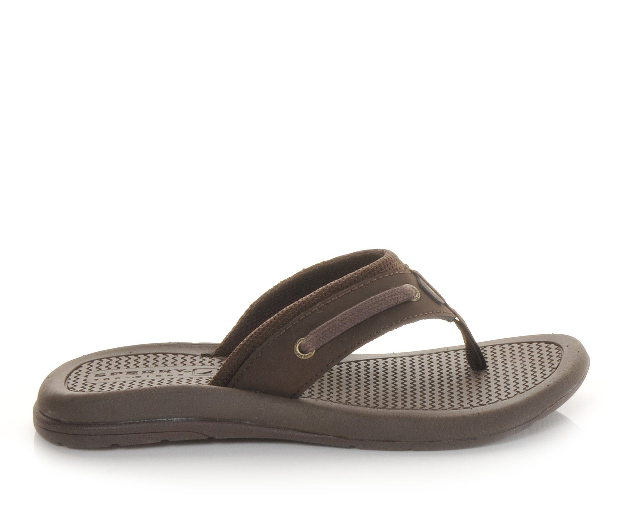 Boys' Sperry Intrepid Thong Sandals (Brown)