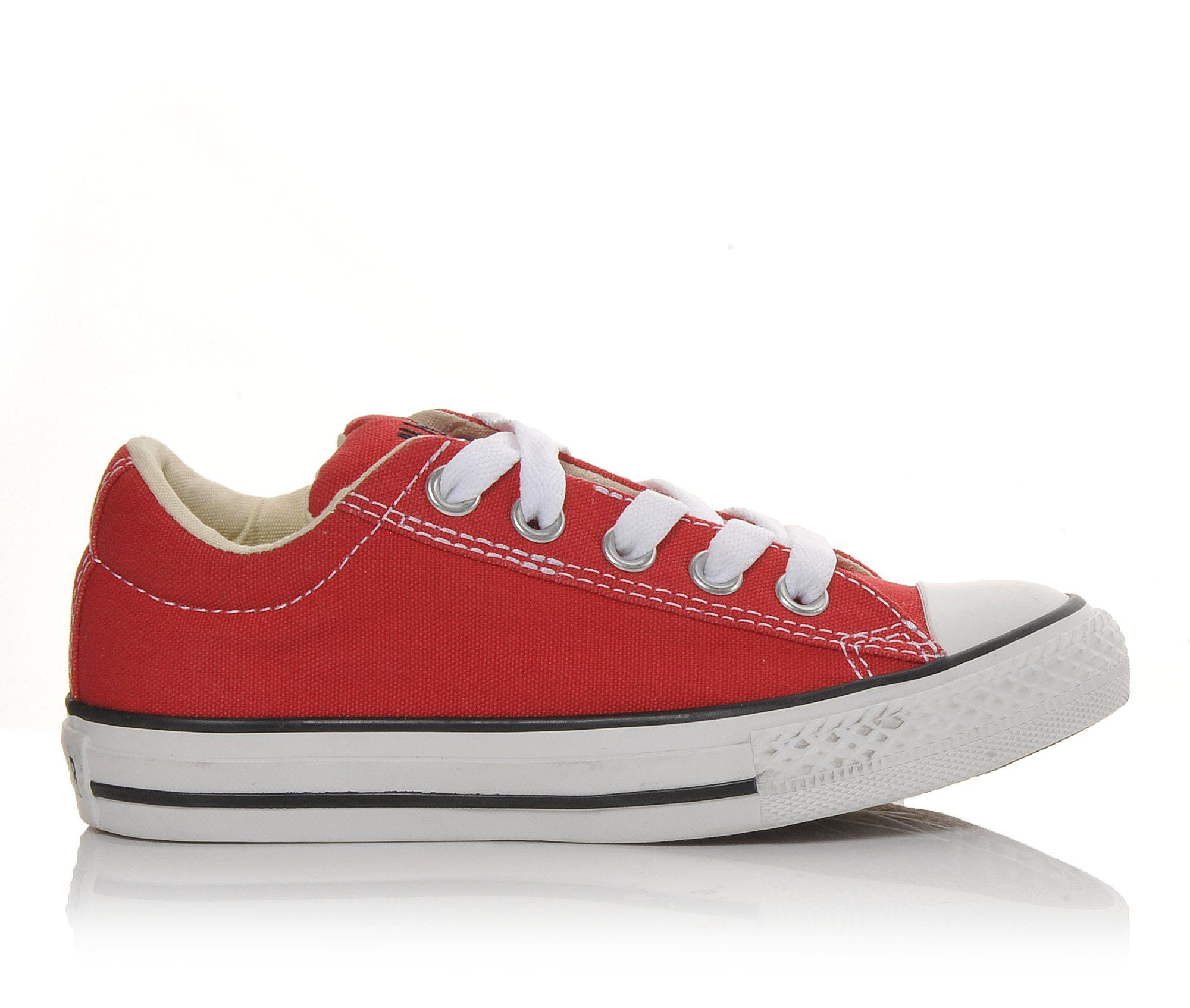 Girls' Converse Chuck Taylor All Star Street Ox Sneakers (Red)