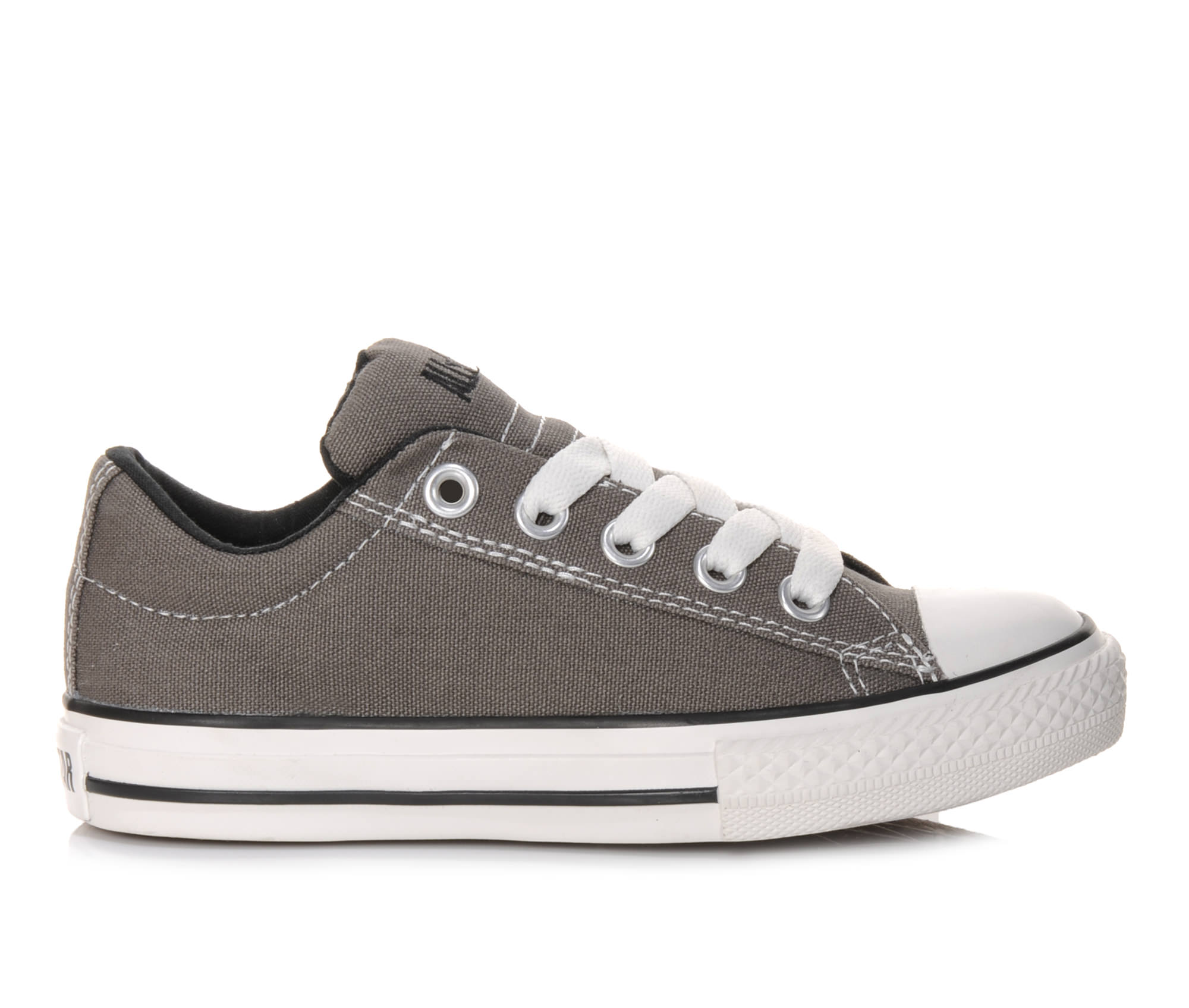 Girls' Converse Chuck Taylor All Star Street Ox Sneakers (Grey)