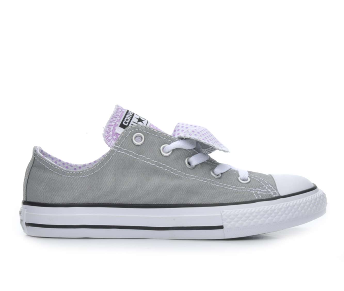 Girls' Converse Chuck Taylor All Star DBL Tongue Sneakers (Grey)