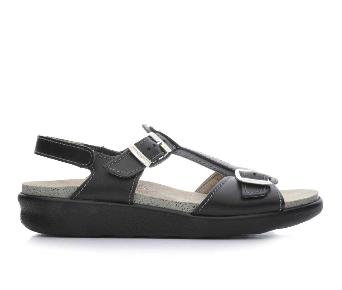 Women's Sas Captiva Sandals (Black)