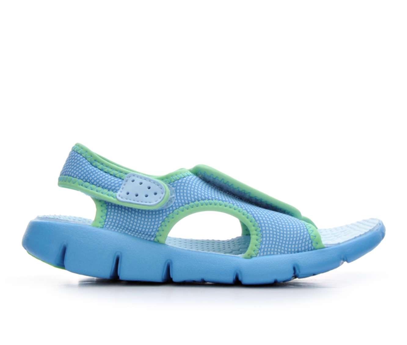 Girls' Nike Sunray Adjust Sandals (Blue)