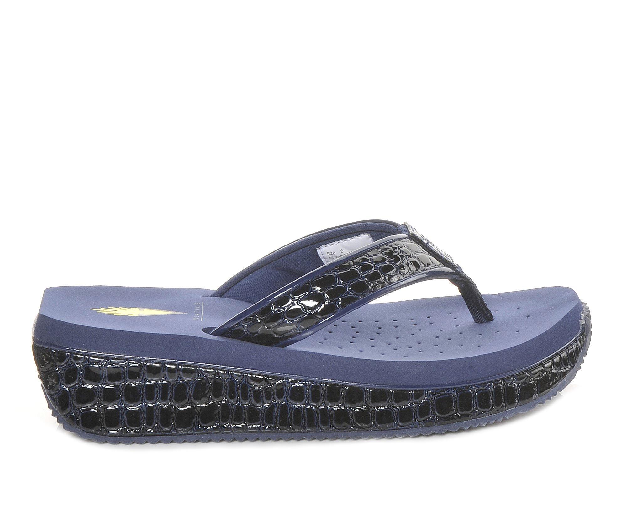 Women's Volatile Mini Croco Sandals (Blue)