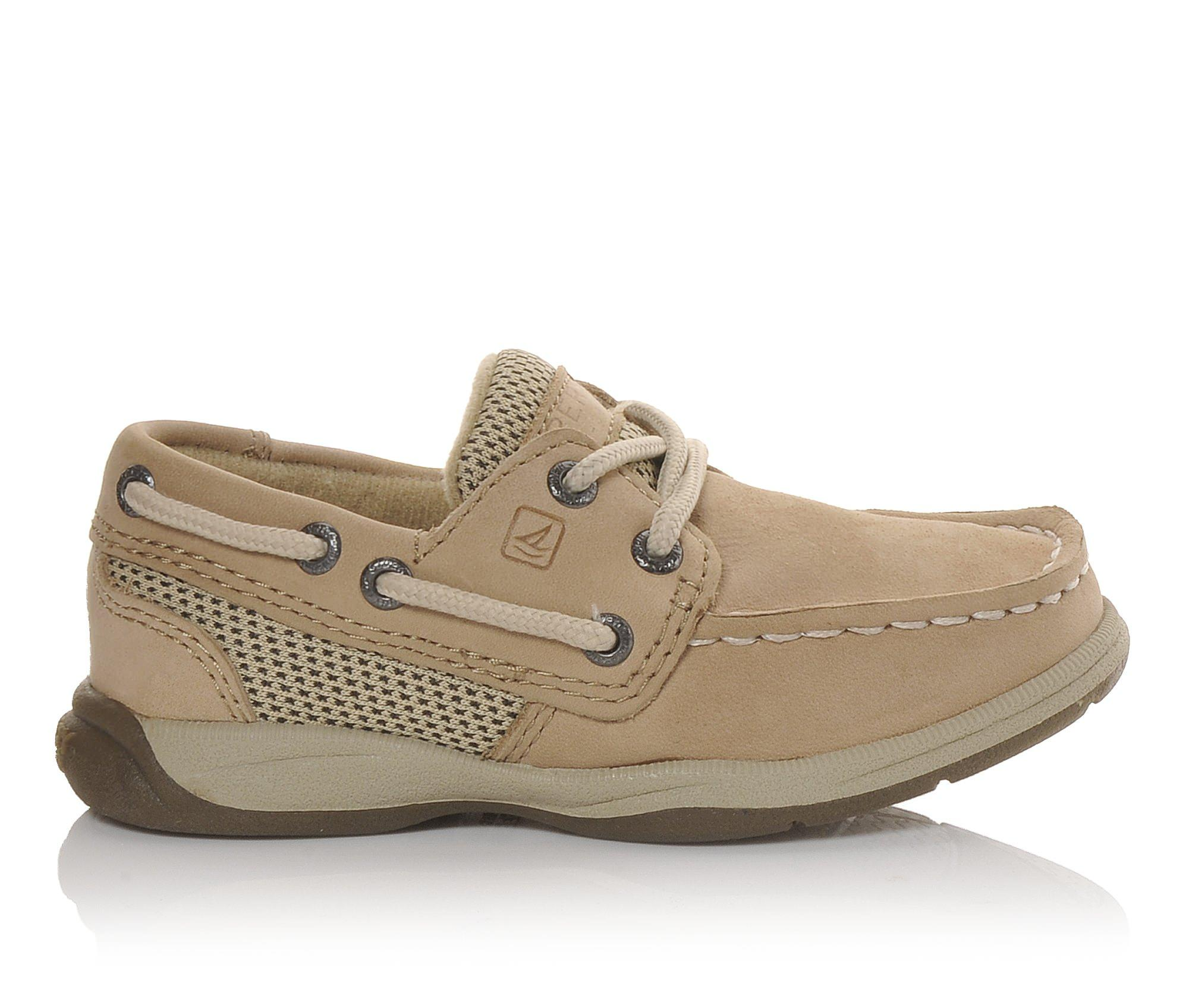 Girls' Sperry Infant Intrepid Boat Shoes (Beige)