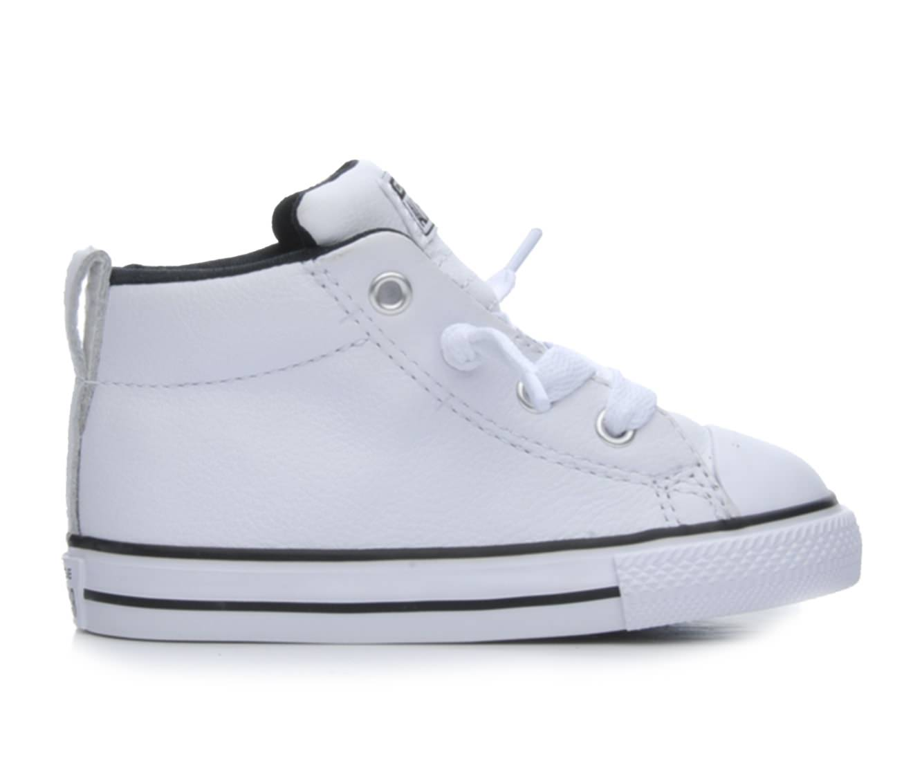 Boys' Converse Infant Chuck Taylor All Star Street Mid Sneakers (White)