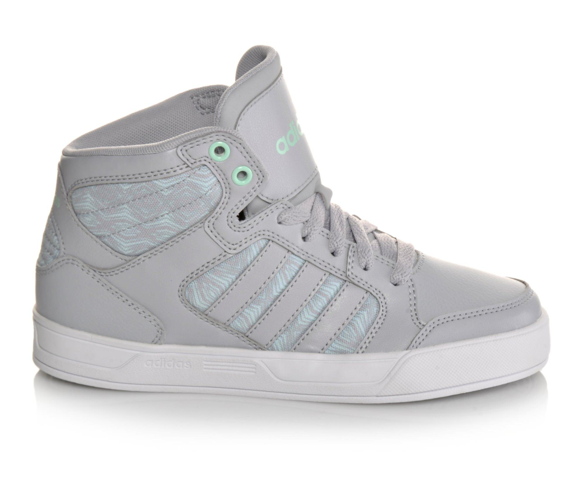 Girls' Adidas BBNEO Raleigh Mid-K G Sneakers (Grey)