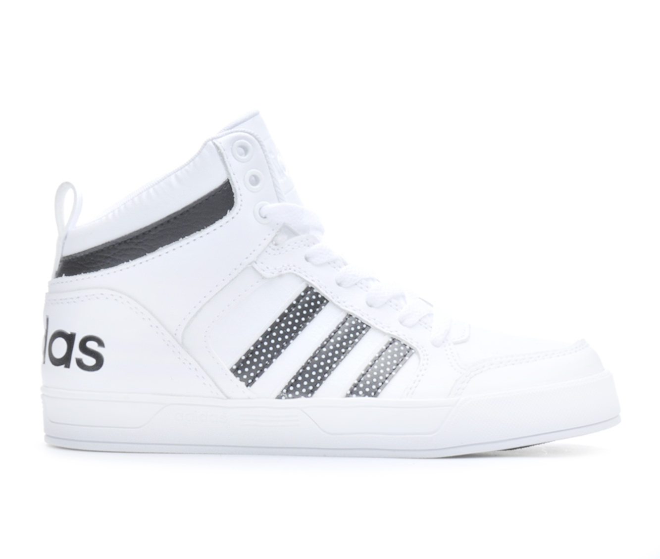 Girls' Adidas BBNEO Raleigh Mid-K G Sneakers (White)