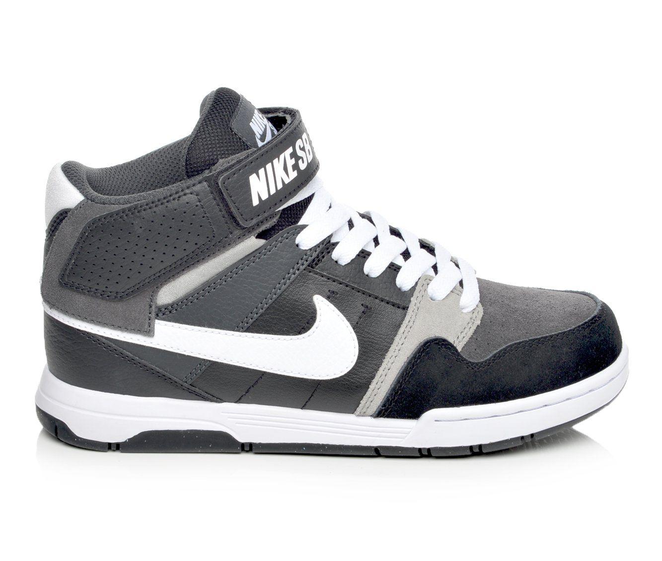 Boys' Nike Mogan Mid 2 Jr Skate Shoes (Black)
