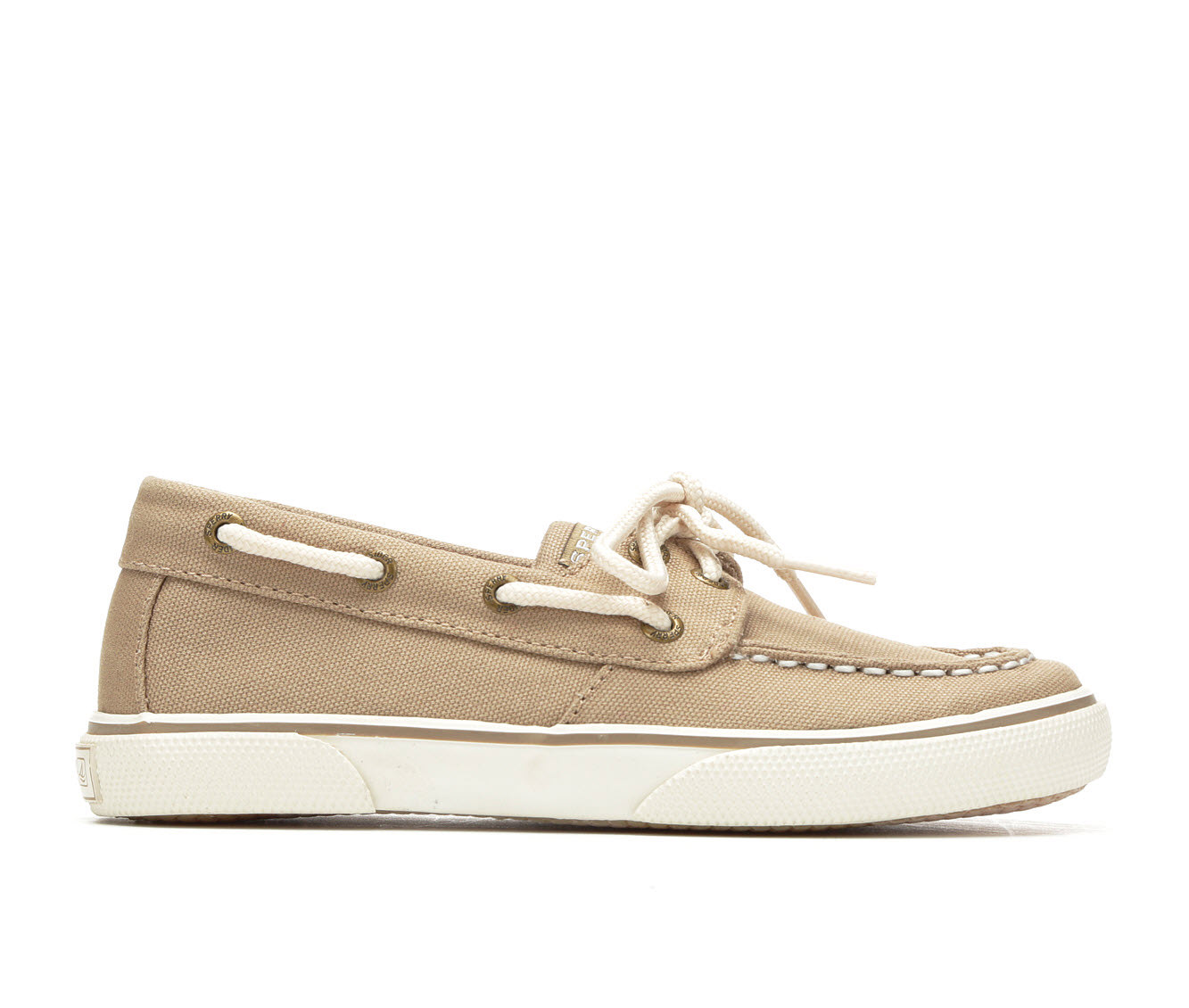 Boys' Sperry Halyard Boat Shoes (Beige)