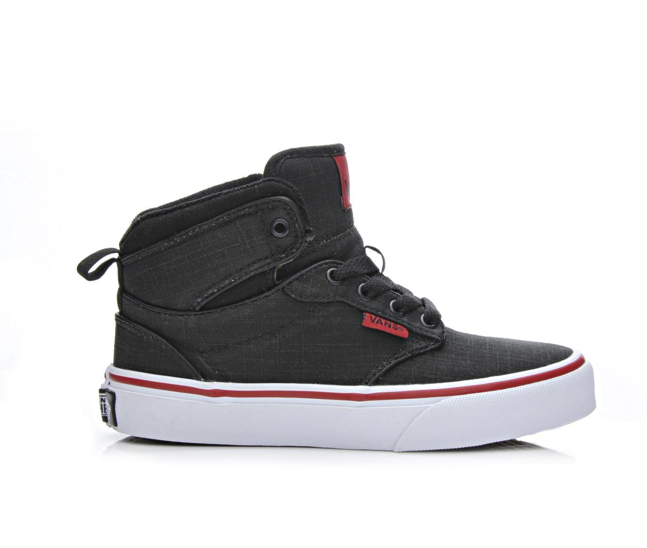 Boys' Vans Atwood Hi Skate Shoes (Black)