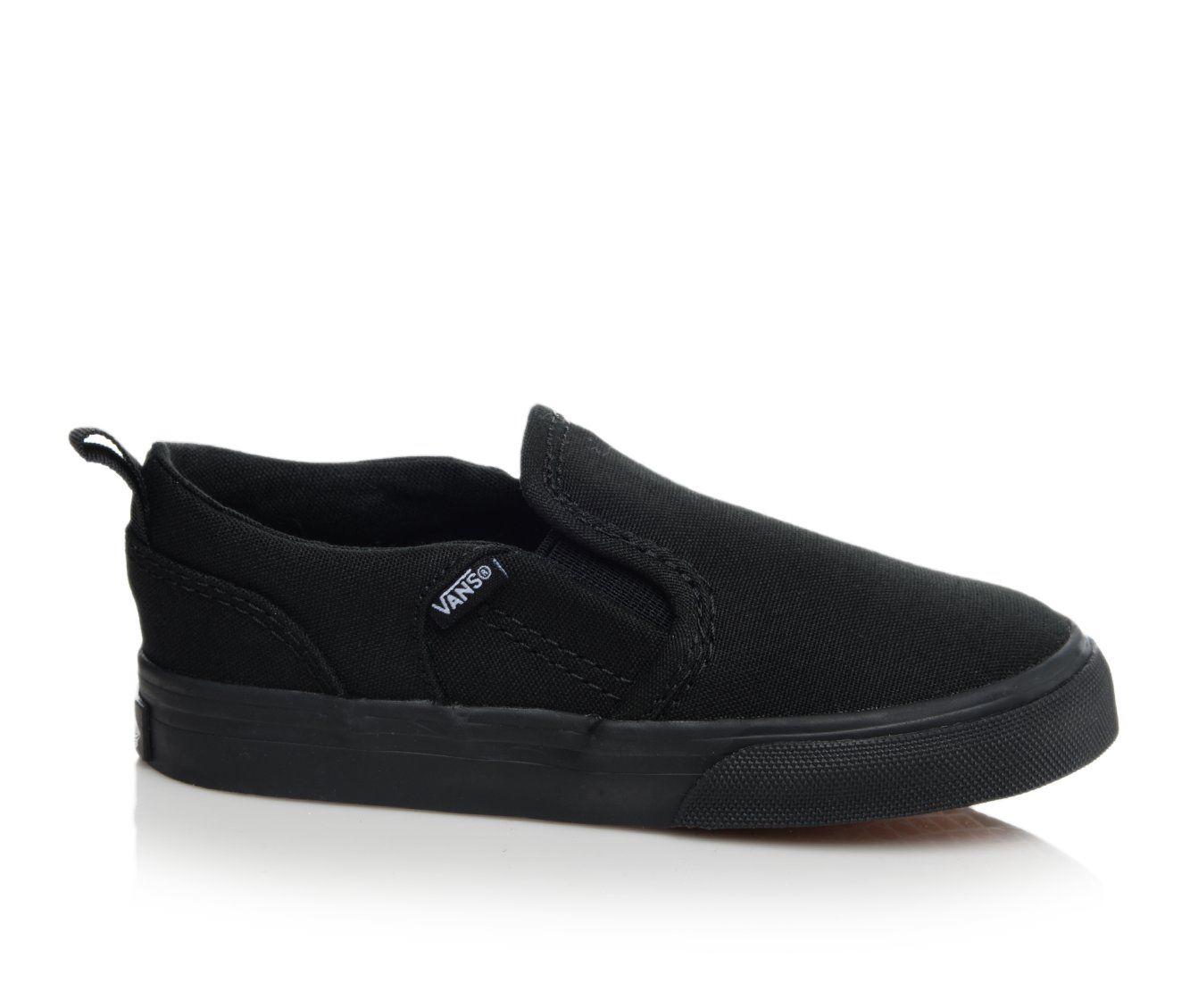 Girls' Vans Infant Asher V Sneakers (Black)