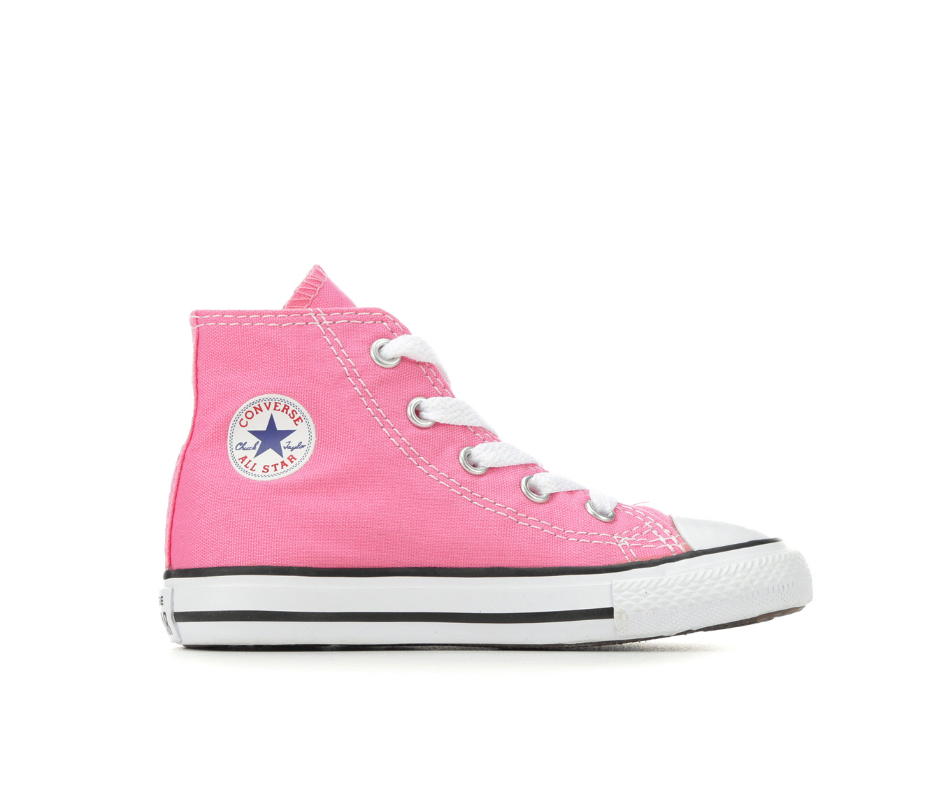 Girls' Converse Infant Chuck Taylor All Star Canvas High Sneakers (Pink)