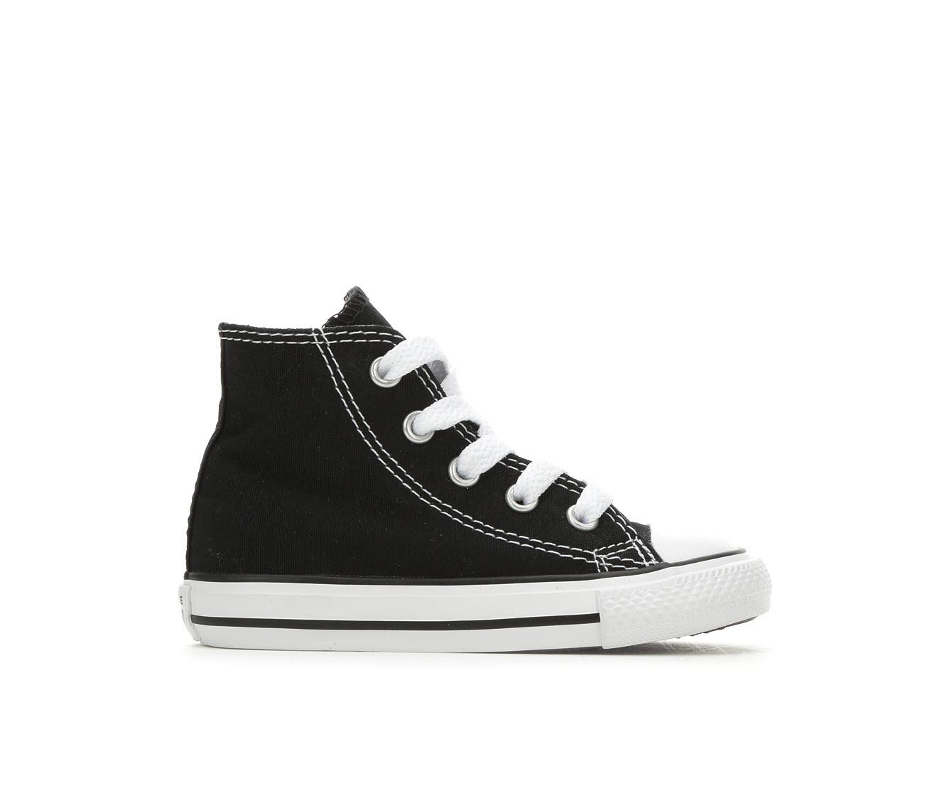 Boys' Converse Infant Chuck Taylor All Star Canvas Hi Sneakers (Black)
