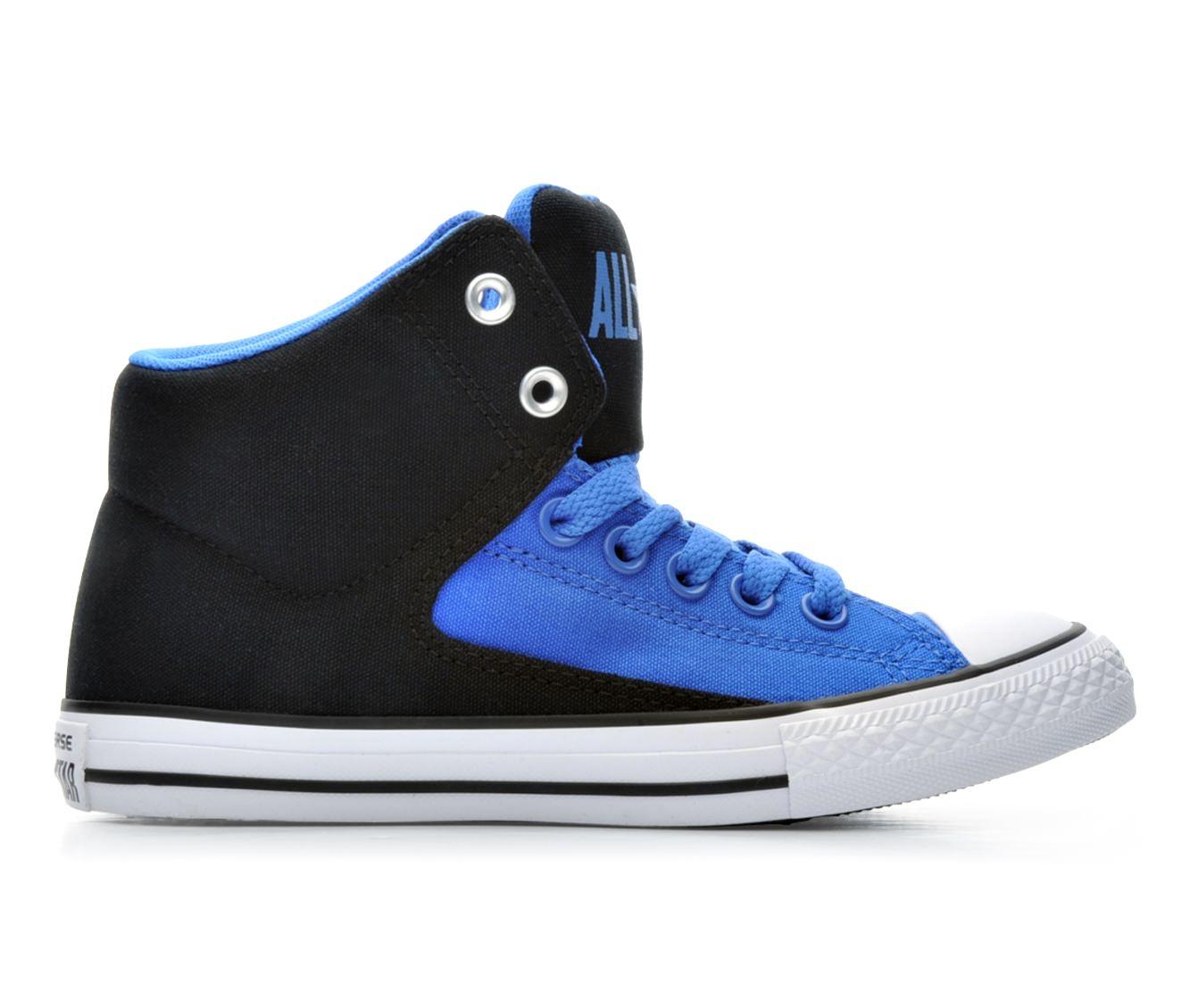 Boys' Converse Chuck Taylor All Star High Street Hi Sneakers (Blue)