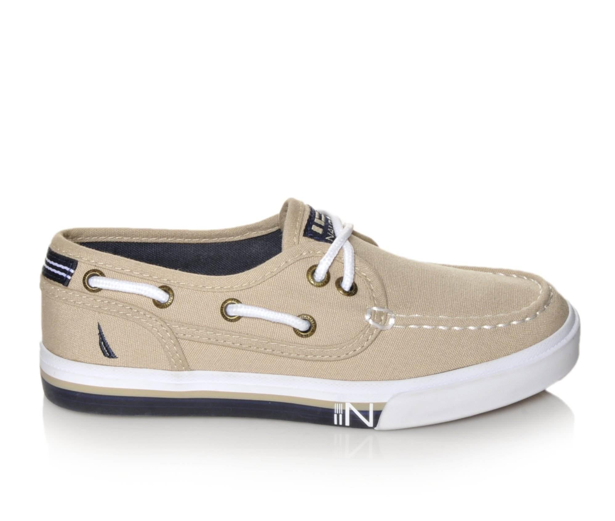 Boys' Nautica Spinnaker Boat Shoes (Beige)