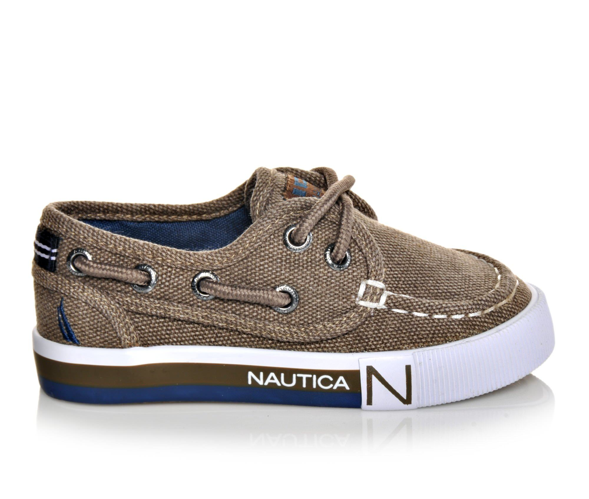 Boys' Nautica Spinnaker Toddler Boat Shoes (Brown)