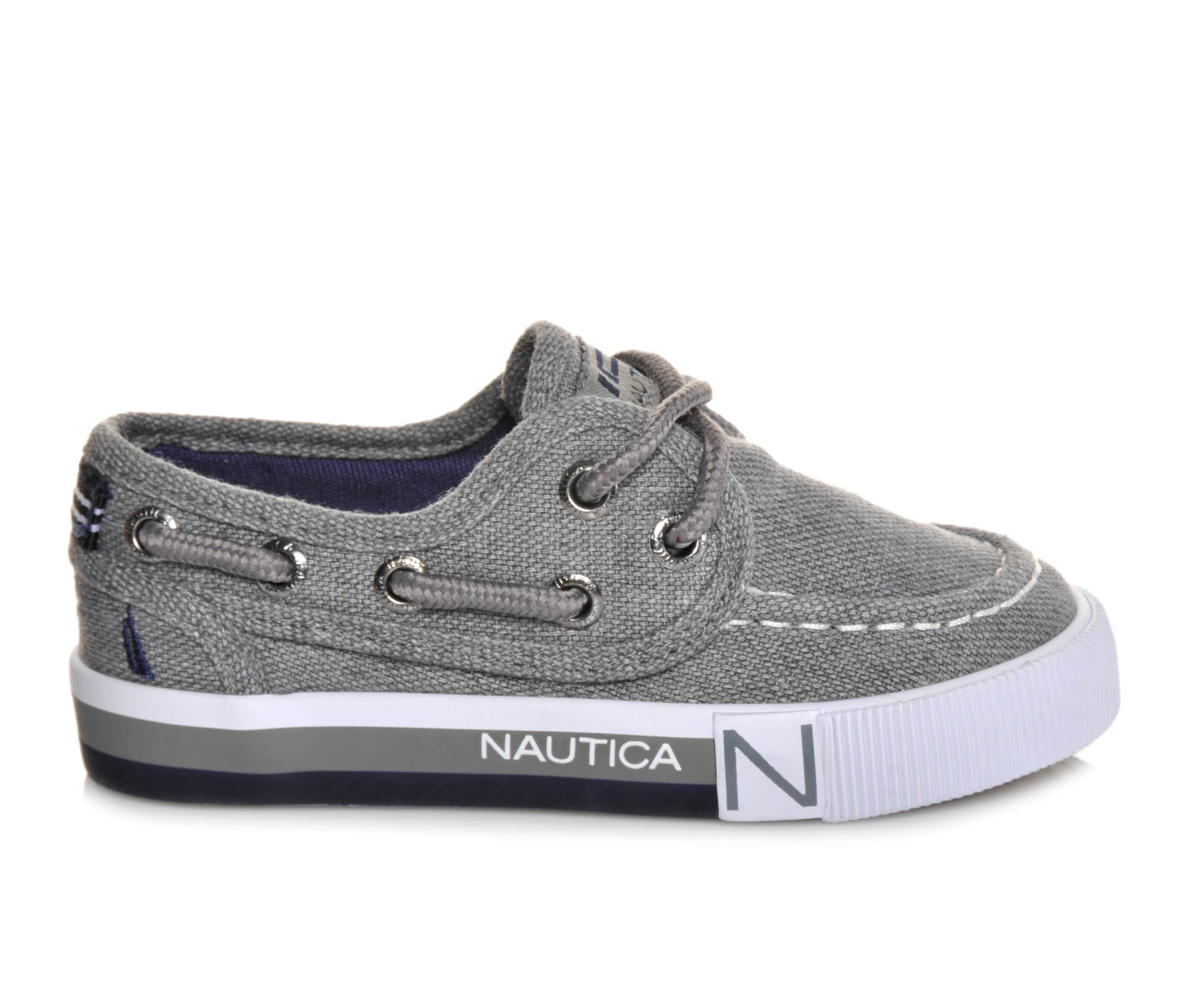 Boys' Nautica Spinnaker Toddler Boat Shoes (Grey)