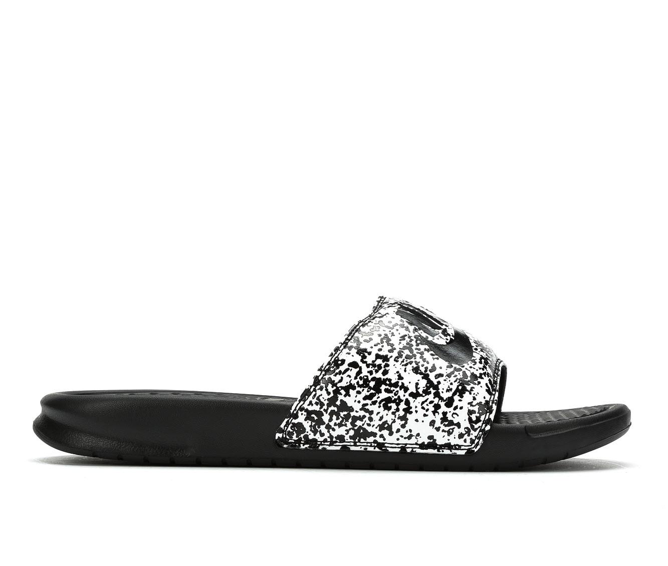 Men's Nike Benassi JDI Print Sandals (Black)