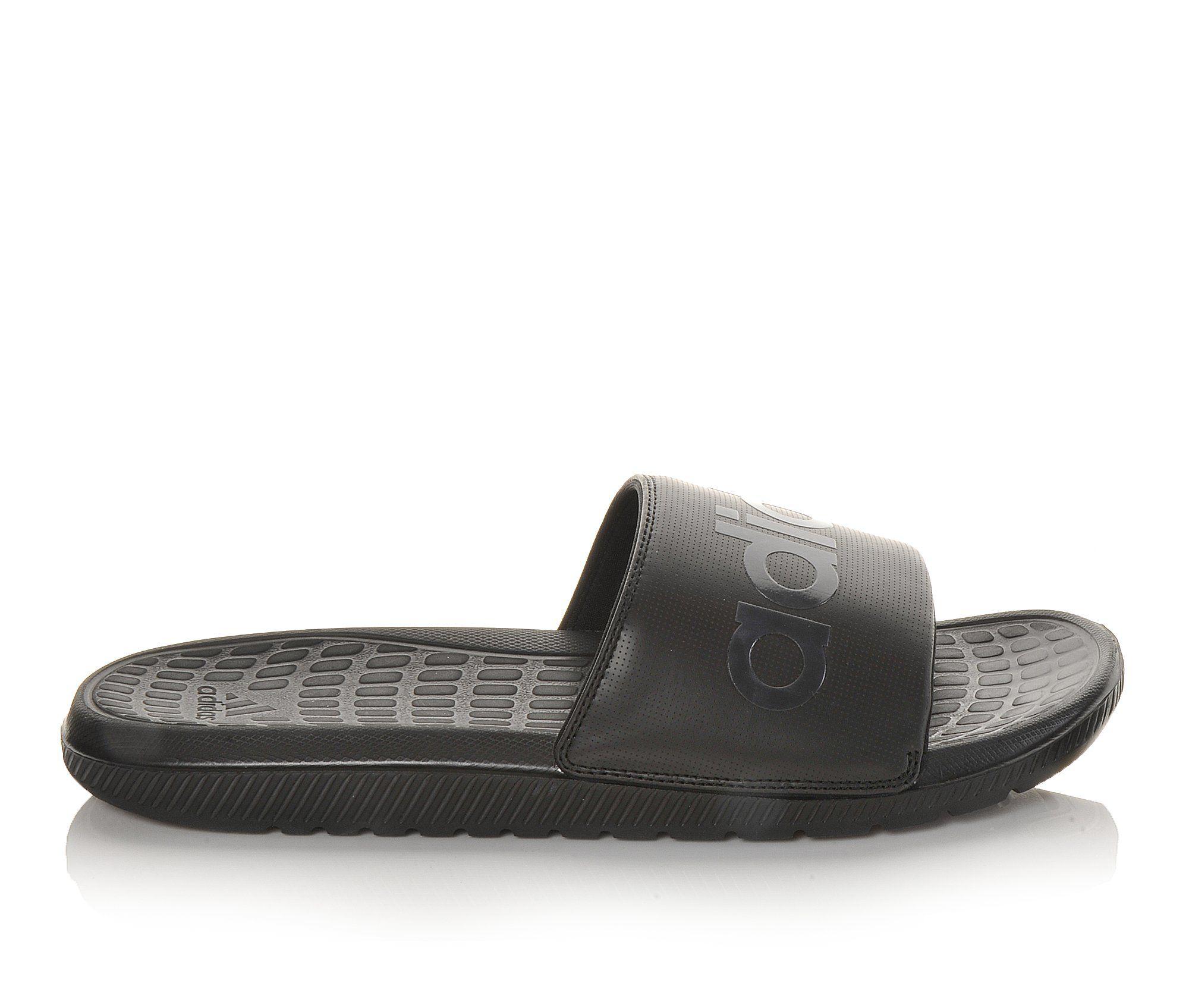 Men's Adidas Voloomix Slide Sandals (Black)