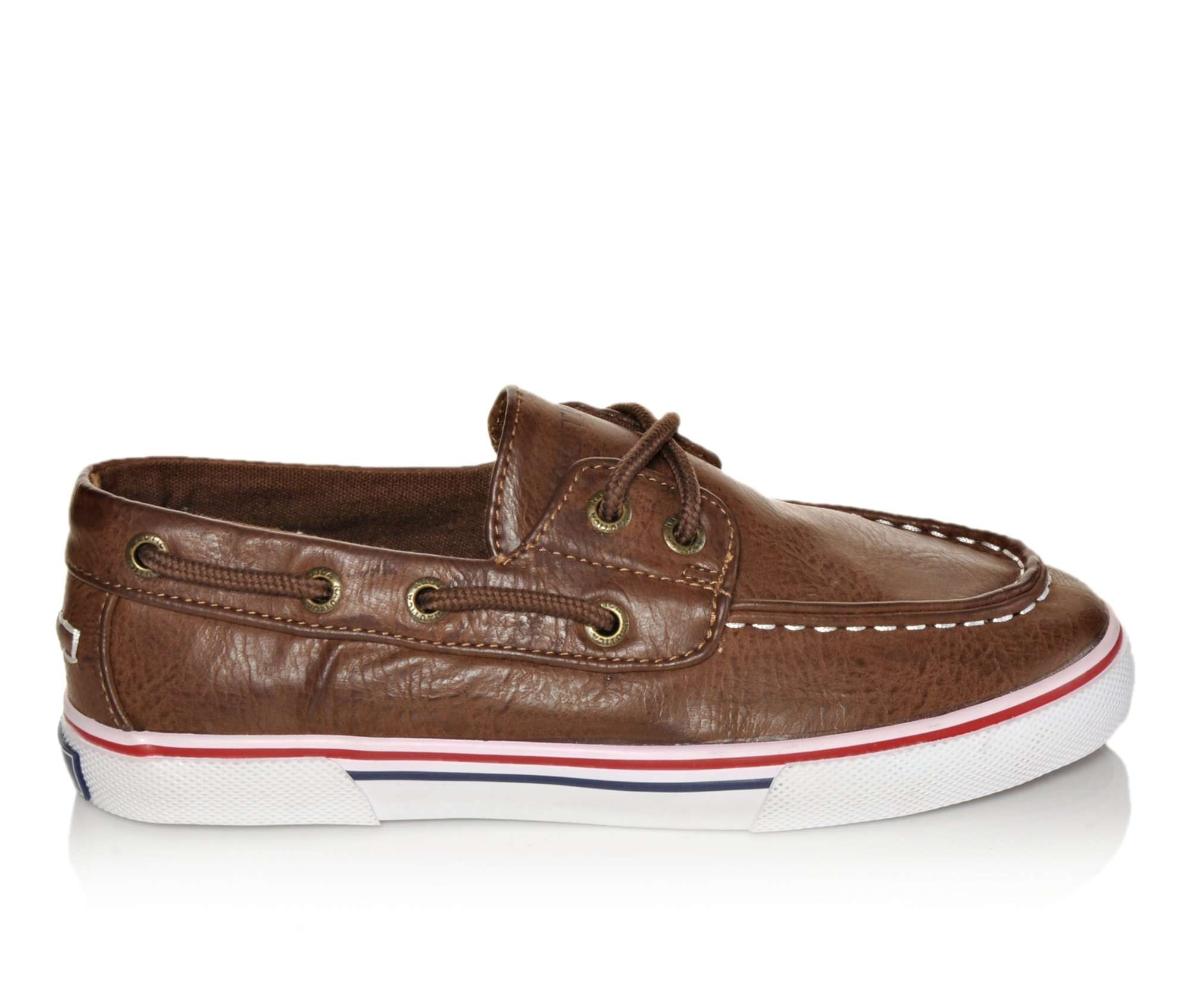 Boys' Nautica Galley Boat Shoes (Brown)