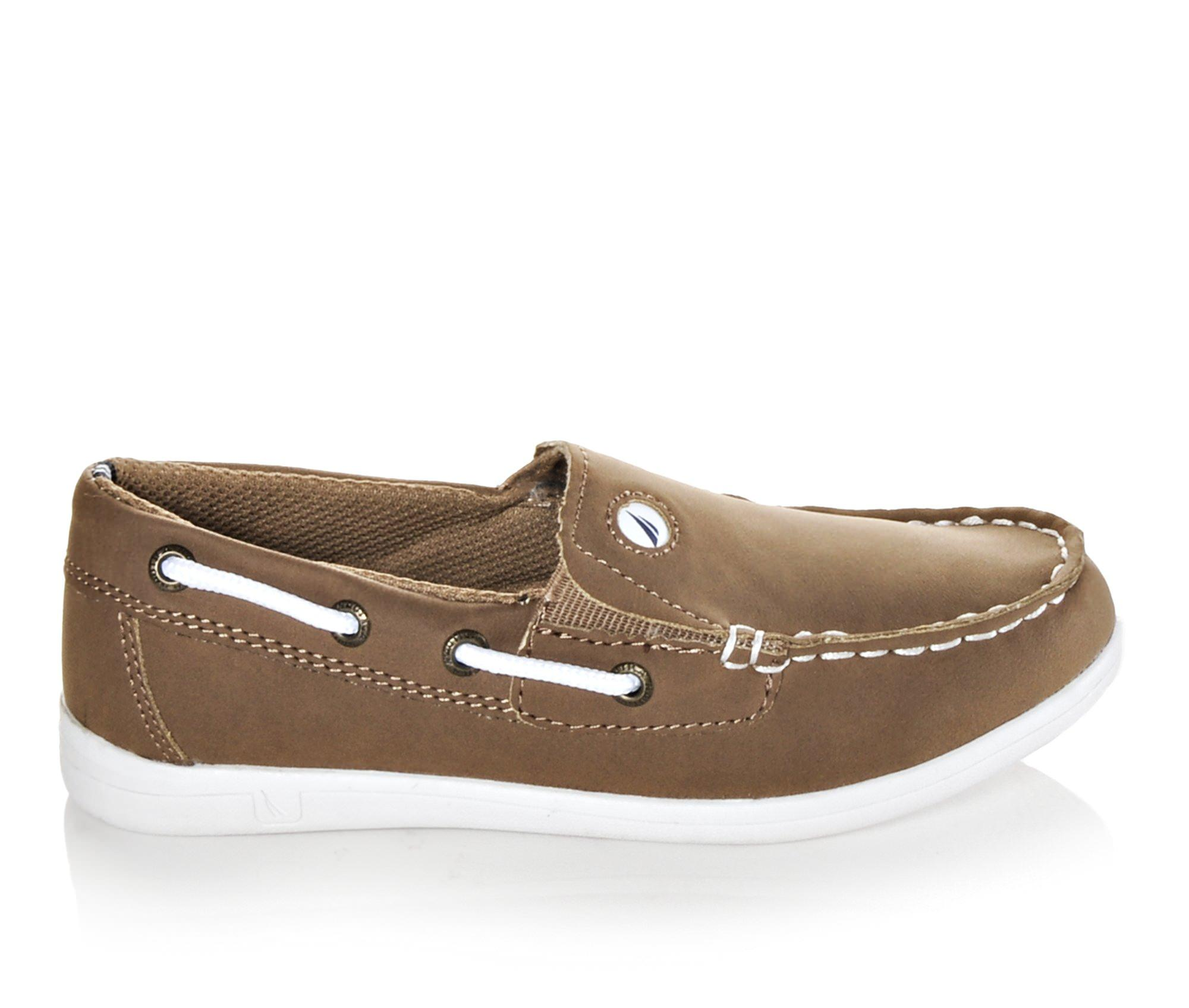 Boys' Nautica Plymouth Boat Shoes (Brown)