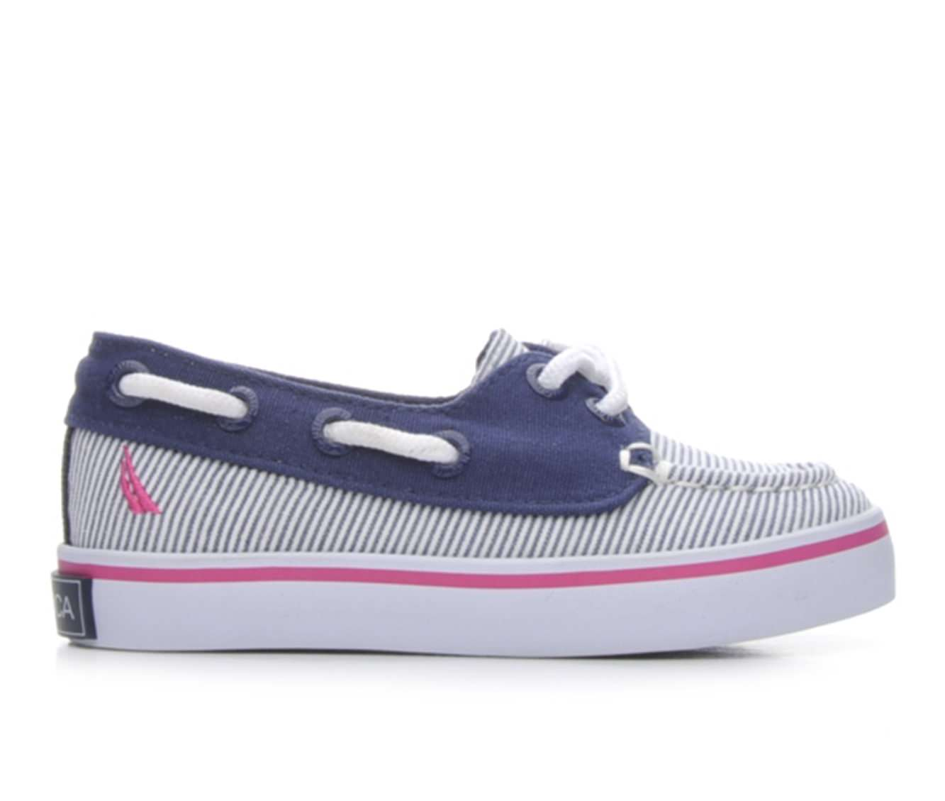 Girls' Nautica Howland Toddler Boat Shoes (White)