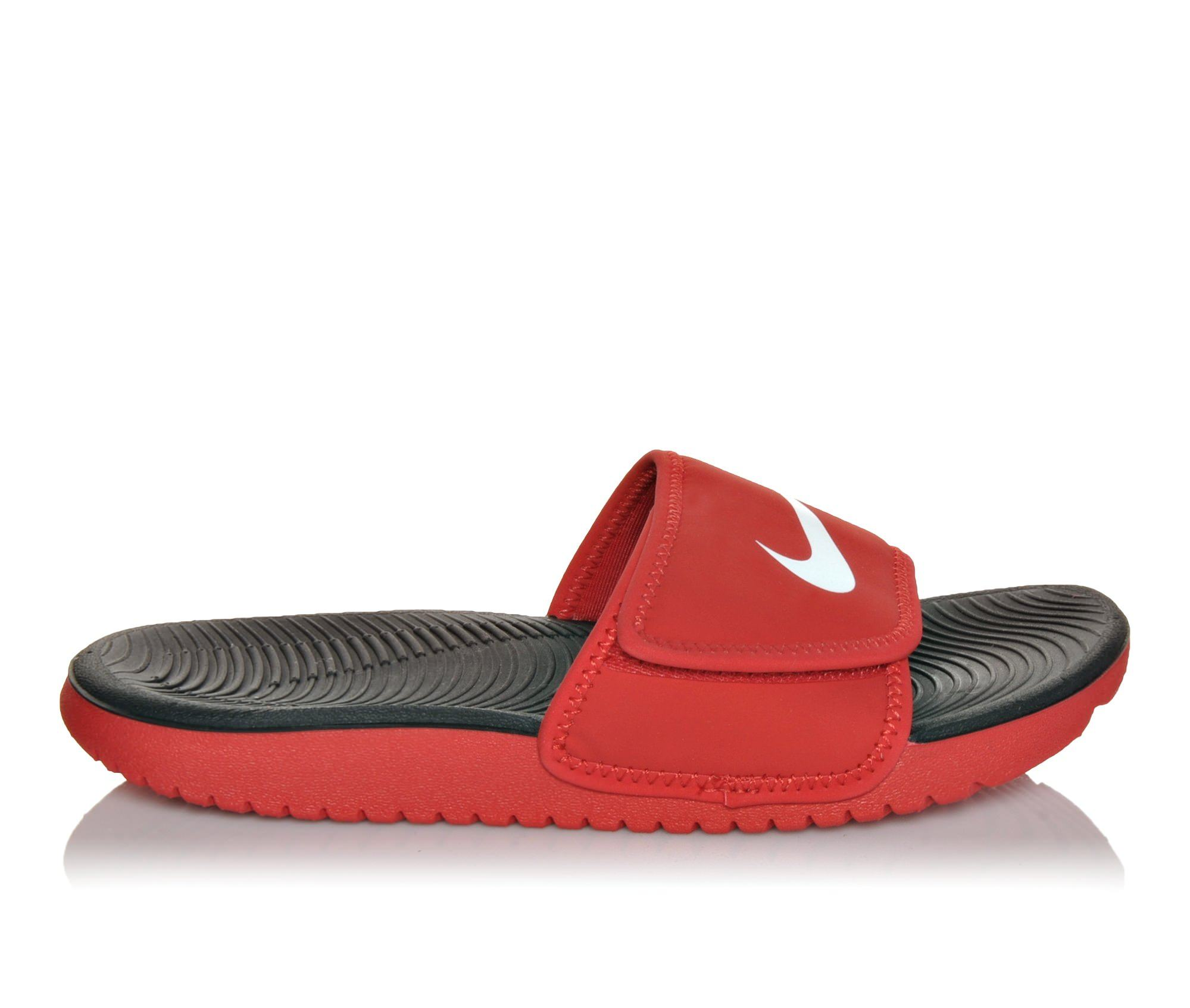 Boys' Nike Kawa Adjust Sport Slides (Red)