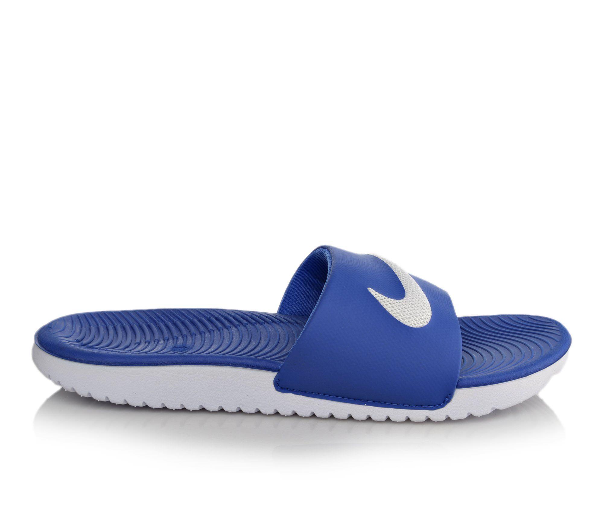 Boys' Nike Kawa Slide Sandals (Blue)