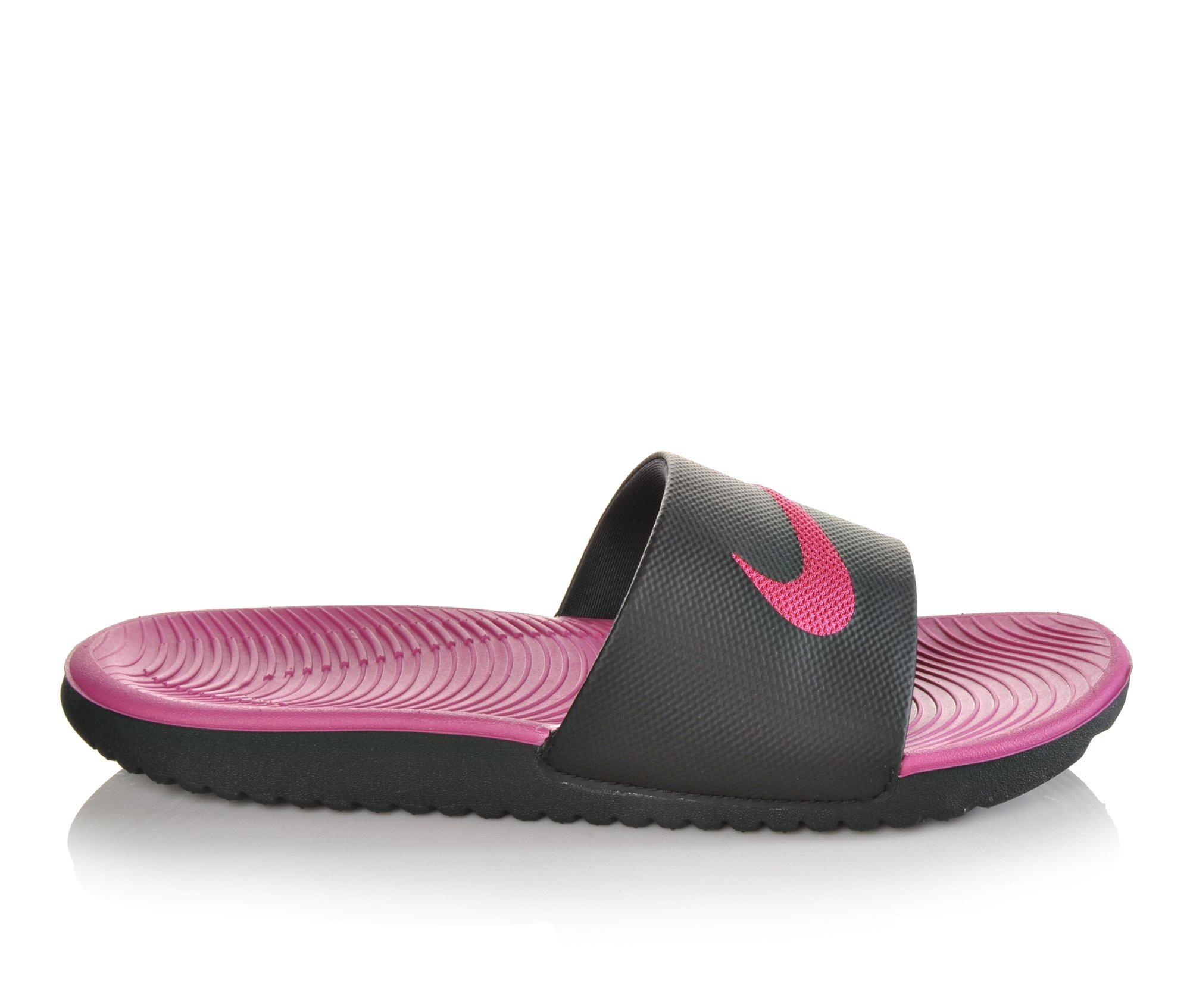 Girls' Nike Kawa Slide Sandals (Black)